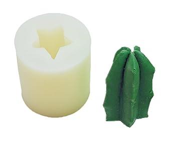ECOSWAY - Molde de silicona para velas en forma de cactus 3D, chocolate, pudín