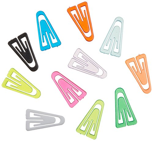 ADVANTUS Medium Plastic Paper Clips, 1 Inch, Assorted Colors, Box of 500 (PC0300)