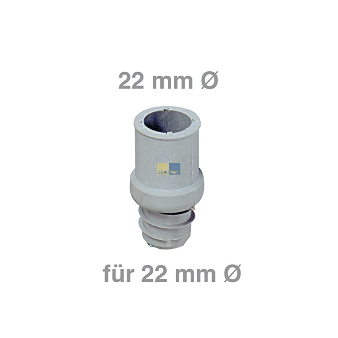 Tubo de desagüe de contera 22 mm de diámetro para lavadora o ...