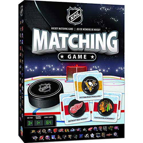 MasterPieces NHL Matching Game, 64 Cards, For Ages -
