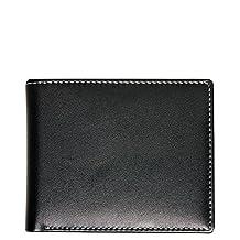 RFID Blocking Stewart/Stand Wallet Leather Exterior Coin Pocket, Black
