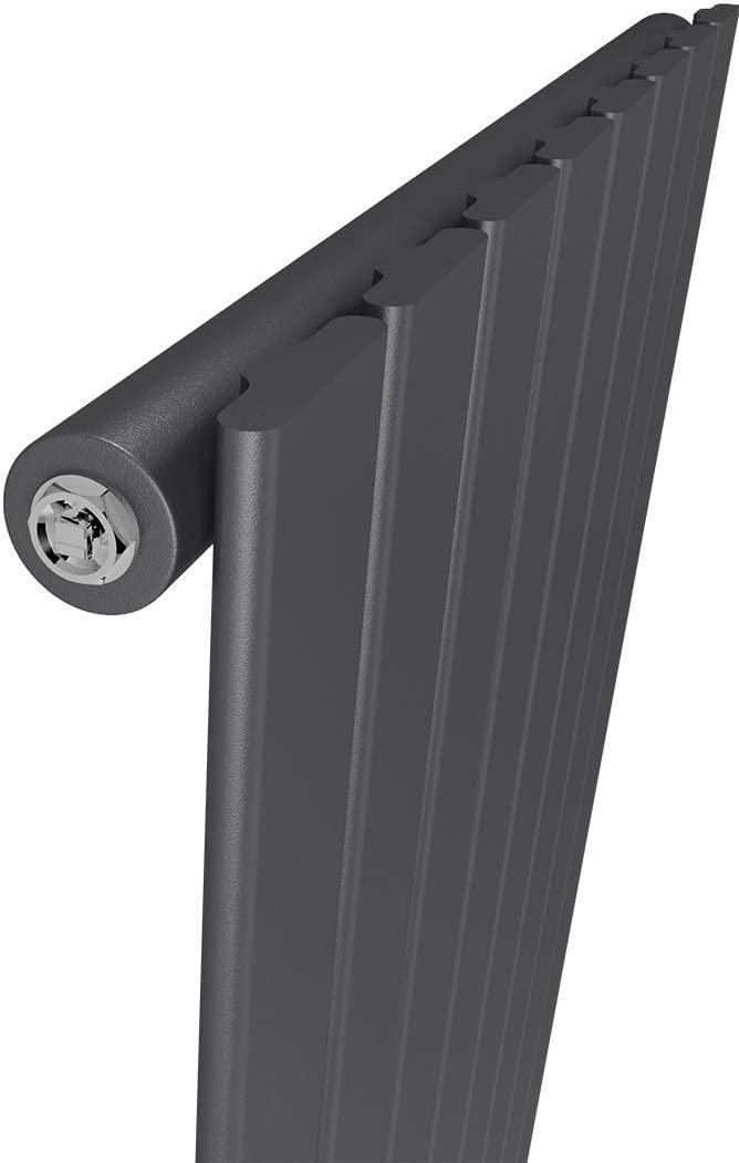 WELMAX Flach Heizk/örper Vertikal Design Paneelheizk/örper 1800x620mm Wei/ß Doppellagig Mittelanschluss Heizung