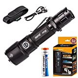 Rofis KR20 CREE XP-L HI V3 LED 1100 Lumens 18650 Rechargeable Flashlight Includes 3400mAh Li-ion Battery with Holster and USB cable