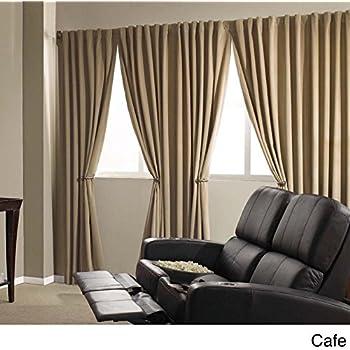 Amazon Com Black Rod Pocket Velvet Curtain Drape