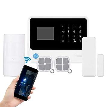 inalámbrico WiFi Alarma Sistema, gsm antirrobo Panel táctil ...