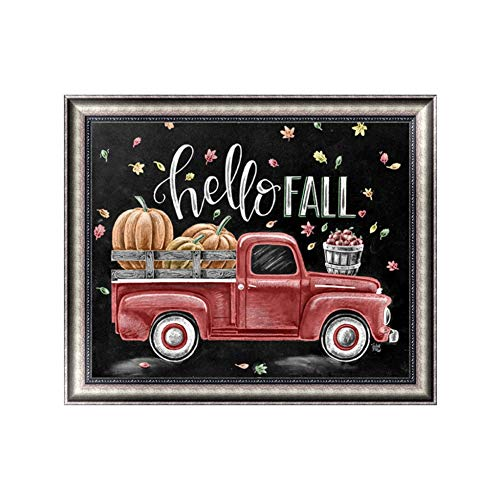 (Apomelo 10×12 inches Diamond Painting Full Red Truck Paint with Diamonds Arts Crafts,Bumper Harvest)