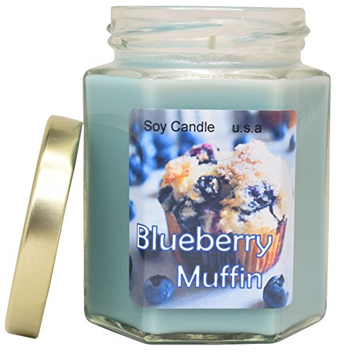 Blueberry Muffin Extra Scented Soy Candle | Long Lasting | Best for Spa, Home, Aromatherapy, Gifts | Indoor & Outdoor Use | Weddings, Party, Meditation | Kitchen & Bath
