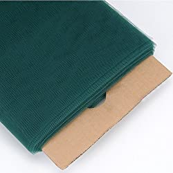 "AK Trading New 54"" Wide x 40 Yards Tulle Fabric Bolt - Hunter Green"