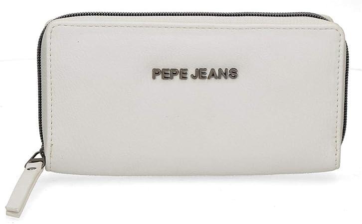 Pepe Jeans Eva Wallet White 18x10x2 Cms Synthetic Leather Amazon Co Uk Clothing