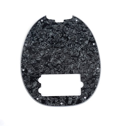 Stingray Pearl - Musiclily 9 Hole Bass Pickguard for MusicMan MM StingRay 4 String Bass Guitar, 4Ply Black Pearl