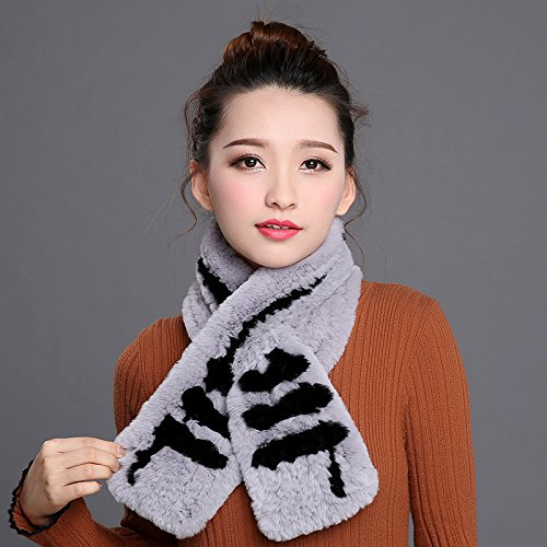 Wuyulunbi@ Double Knitted Scarf Scarf and Ms,Pure Grey Black