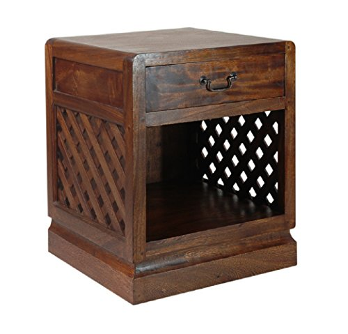 - NES Furniture abc10068 Mississippi Nightstand Fine Handcrafted Solid Mahogany Wood, 26 inches, Brown