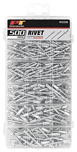 Assorted Rivets - Performance Tool W5228 Rivet Assortment Set, 500-Piece