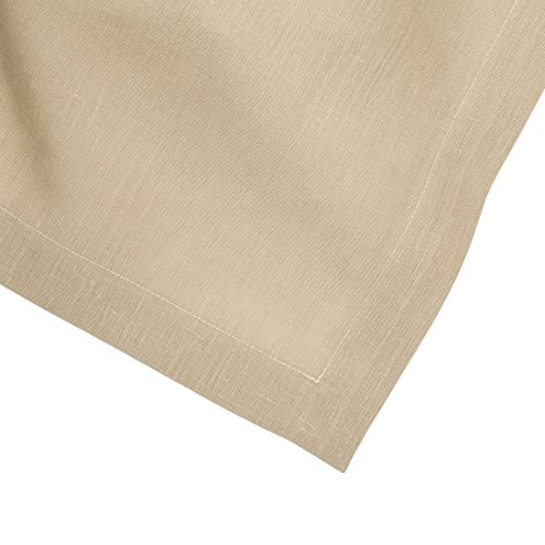 Huddleson Camel Gold Pure Linen Tablecloth 72x72 Square (Premier Square Tablecloth)