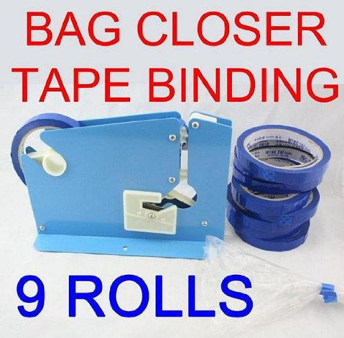 Taper Roll (Bag Closer, Neck Closer, Taper, Binder, Bag Sealer, Neck Sealer, + Extra 8 Rolls of)