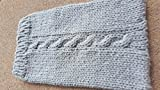 EReader Kindle Cable Cozy Cover Sleeve Hand Knit in Heather Grey