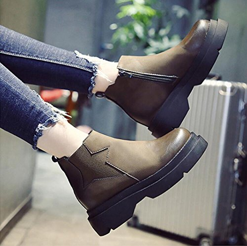 Boots And The Female KHSKX Velvet Boots 37 Versatile Wind Autumn Thick And Winter Heavy Warm Round Plus Boots Head With Martin Female New The wtCadqC