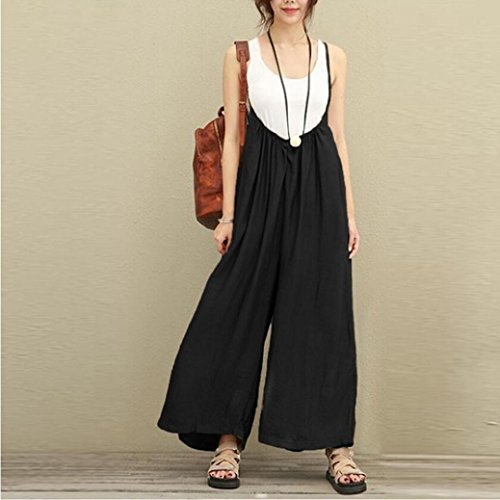 f2e70920fa0 RAISINGTOP Women Wide Leg Flowy Pants Dungarees Casual Jumpsuits Outfits Long  Trousers Rompers Overalls Loose Adult