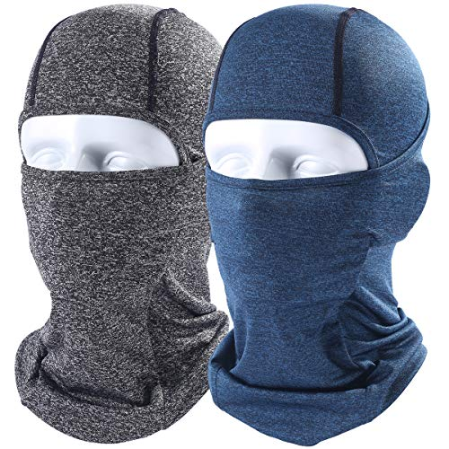 AXBXCX 2 Pack - Breathable Face Mask Headband Headwear Scarf Neck Gaiter Windproof Dust Sun UV Protection for Fishing Hunting Running ATV Motorcycling Skiing Biking Gray &Dark ()