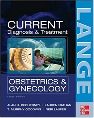 Current Diagnosis And Treatment Obstetrics And Gynecology Pdf