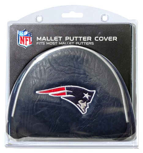 Team Golf NFL New England Patriots Golf Club Mallet Putter Headcover, Fits Most Mallet Putters, Scotty Cameron, Daddy Long Legs, Taylormade, Odyssey, Titleist, Ping, Callaway