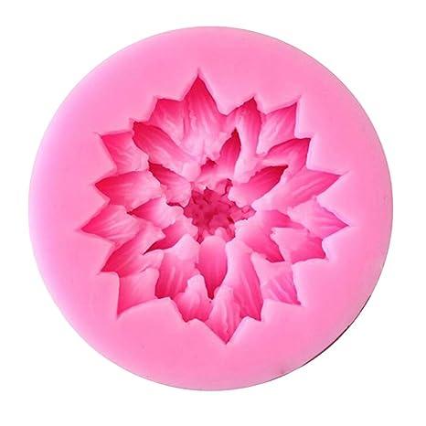 WDYJMALL Lotus - Molde de silicona para fondant, diseño de flor de loto