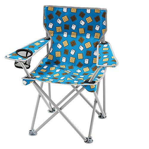 OZARK Trail Kids Youth Folding Chair For all Outdoor Activities (Smores (Blue)) ()