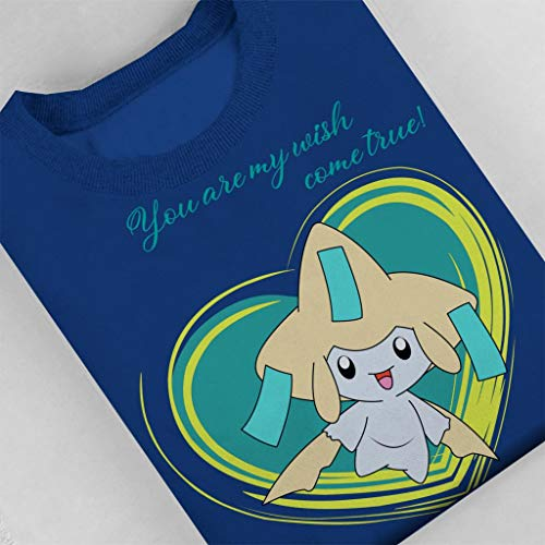 7 City Men's Jirachi Blue Sweatshirt Royal Love Pokemon Cloud 5HqwO