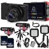 Sony Cyber-shot DSC-RX100 Digital Camera (Black) International Version (No Warranty) + Sony MDR-7506 Studio Headphones Vlogging Starter Kit Bundle
