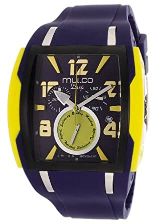 Mulco Deep Navy Blue Dial Chronograph Blue Silicone Unisex Watch MW113186049
