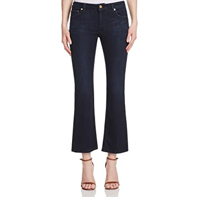 d1e9b28d94c1 Michael Michael Kors Izzy Cropped Flare-Leg Jeans (0, Stellar Wash) at  Amazon Women's Jeans store