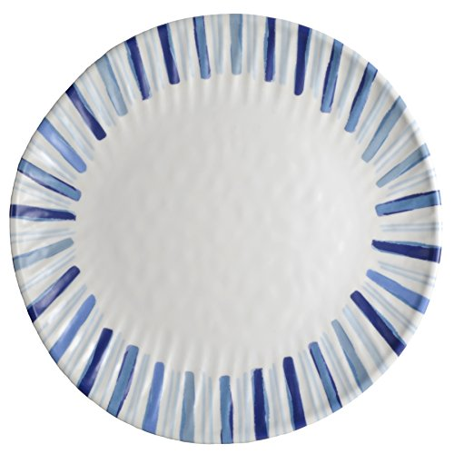 Merritt-Watercolor-Blues-Striped-105-Melamine-Dinner-Plates-Set-of-6