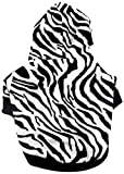 SMALLLEE_LUCKY_STORE Zebra Hooded Shirt for Small Dogs, Medium For Sale