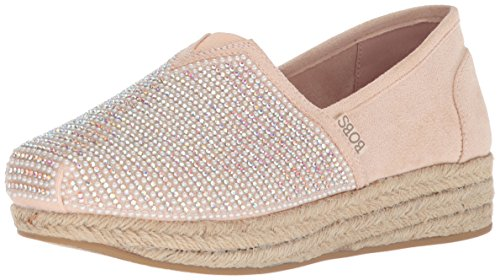 Skechers Bobs from Women's Highlights-Jewel Rock Ballet Flat, Light Pink, 7 M US (Womens Rock Skechers)