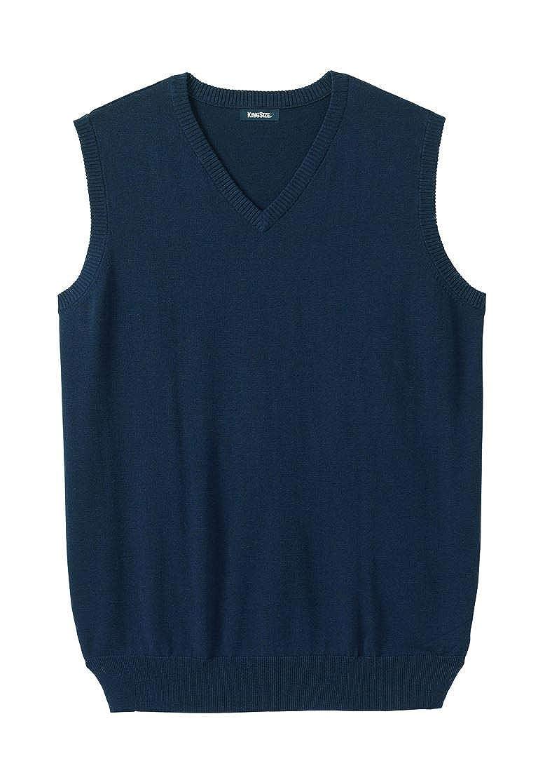 KingSize Men's Big & Tall Lightweight V-Neck Sweater Vest