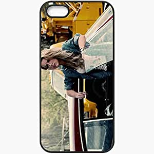 Personalized iPhone 5 5S Cell phone Case/Cover Skin Amber Heard Crazy Horse Film Blonde Girl Car Black