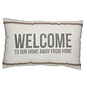 Welcome Home Throw Pillow : Amazon.com: Primitives by Kathy Welcome to our Home Away from Home Accent Throw Pillow: Home ...