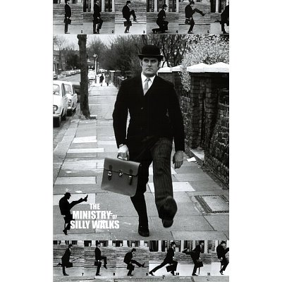 Monty-Python-The-Ministry-Of-Silly-Walks-TV-Show-Poster-Size-24-x-36