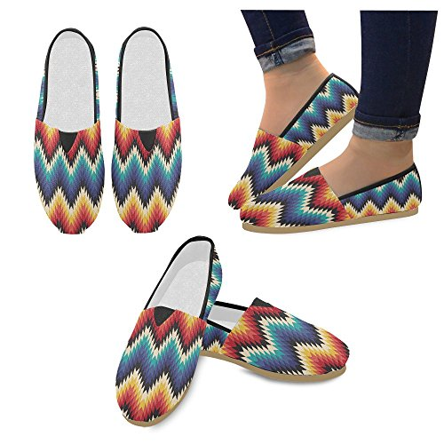 Tribal Shoes music Casual Women for and InterestPrint Roll Rock Seamless Loafers hipster qS6v60