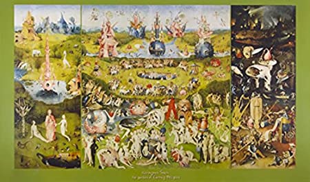 1art1 Jerome Bosch Poster Reproduction Jardin Des Delices Triptyque 116 X 67 Cm Amazon Fr Cuisine Maison