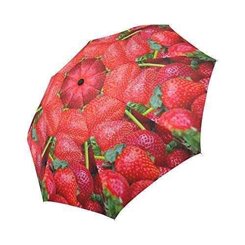 Strawberry Pattern Auto Travel Umbrella Men and Woman Folding Umbrella