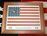 Cheap Framed, American Civil War 34 star Flag..1st Minnesota Infantry