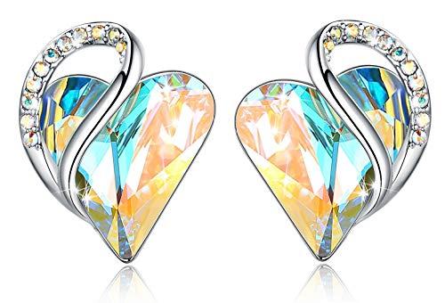Silver Tone White Jewelry Set - Leafael