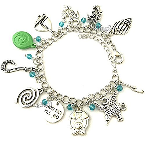 BlingSoul Maui Moana Charm Bracelet - Maui Hook Jewelry Moana Gift Merchandise for Women by BlingSoul (Image #3)'