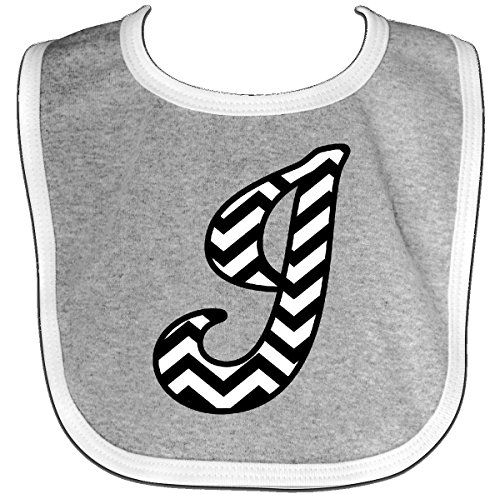 Inktastic - Chevron Monogram Letter J Baby Bib Heather/White 1fc82 (Baby Bib Initial)