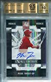 Mike Trout Autographed 2013 Donruss Elite Extra Edition (BVG) - Baseball Slabbed Autographed Cards