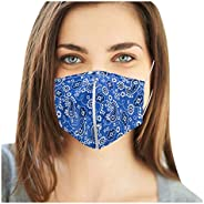 Inked and Screened Washable Reusable Face_Mask with with Zipper for Drinking, Mouth Open Cover Balaclavas for
