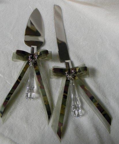 Camo Redneck Wedding Deer Hunter Hunting Cake Knife Set (Camo Kitchen Knives Set)
