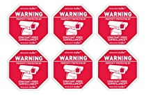 6 Alarm System Surveillance Camera Warning Decals