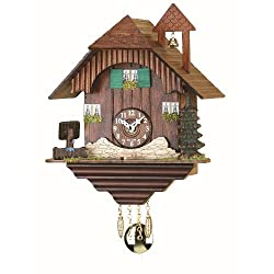 Trenkle Kuckulino Black Forest Clock Black Forest House with quartz movement and cuckoo chime TU 2039 PQ